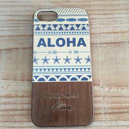 iphone case ラバー【aloha】Blue