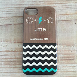 iphone case ラバー【Me】turquoise blue