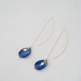 花びらアメリカンピアス(blue02)