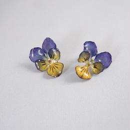 ビオラピアス(purple×yellow04)