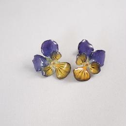 ビオラピアス(purple×yellow03)