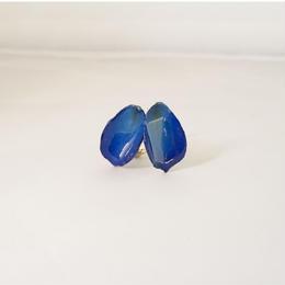 花びらイヤリング(blue01)