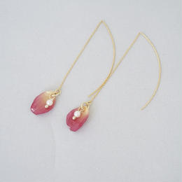 花びらアメリカンピアス(pink03)