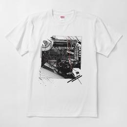 河村康輔  シンセ・コラージュTシャツ(ホワイト)