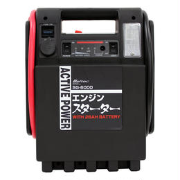 メルテック ポータブル電源 エンジンスターター DC12V ソケット1口 ライト付 Meltec SG-6000