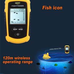 魚群探知機  深度40メートル対応ワイヤレス 高性能ソナー トランスデューサ ff1108-1