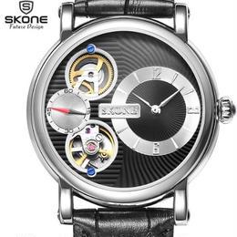 skone 腕時計 機械式自動巻き+クォーツ ダイヤル42mm バンド20mm