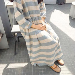 【mom】NAMIBIA ONE-PIECE*light blueのみ