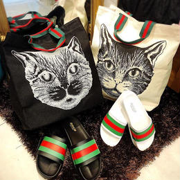 CAT柄 トート