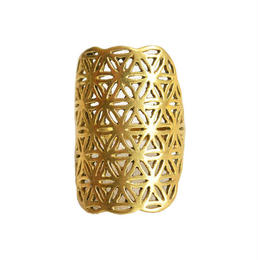 """flower of life"" handmade brass ring (gar001b)"