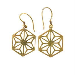 "nepal ""asa""  brass pierced earrings (w004)"