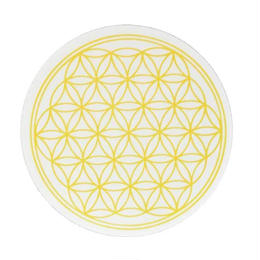 flower of life sticker yellow (sst002_3)