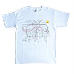 """""""BVG"""" s-bann・u-bann map t-shirts (ga003)"""