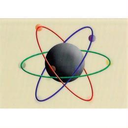 """L.M.kartenvertrieb""atomic structure 3D animation postcard (glma008)"
