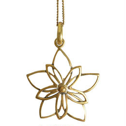 """venus blume"" handmade brass necklace (gan017)"