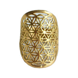 """flower of life"" handmade brass ring (gar001a)"