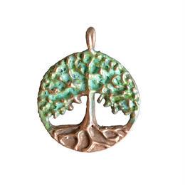 bronze tree pendant top (gan028)