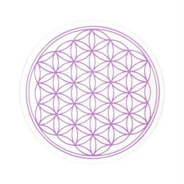 flower of life sticker purple (sst002_7)