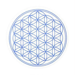 flower of life sticker indigo (sst002_6)