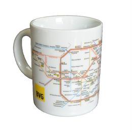 """""""BVG"""" s-bann・u-bann map mug cup (gs006)"""