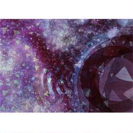 """L.M.kartenvertrieb""psychedelic purple 3D animation postcard (glma012)"