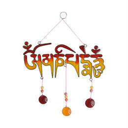 """om mani padme hum"" suncatcher (so008)"