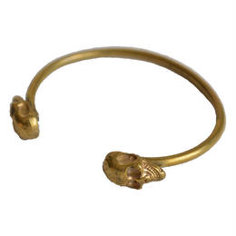 """skull"" handmade brass bangle (gab001a)"