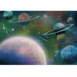 """L.M.kartenvertrieb""space 3D animation postcard (glma013)"