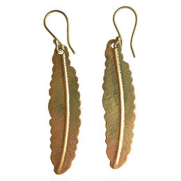 """feather"" handmade brass pierce (gap006)"