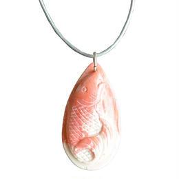 coral carp necklace (gan015)