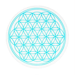 flower of life sticker blue (sst002_5)
