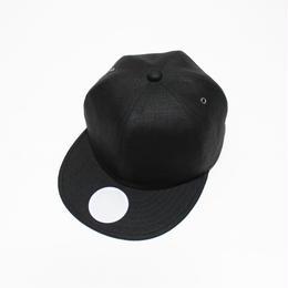 linen 6 panel cap (man) black