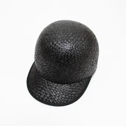 raffia cap (man&woman) black&black