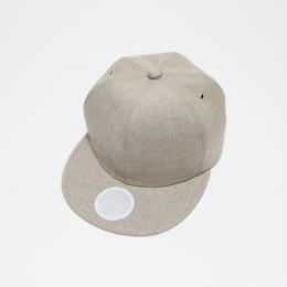 linen 6 panel cap (man) natural