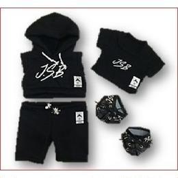 ダッフィー衣装 三代目J Soul Brothers J.S.B Hoodie パーカー 袖無しver 43cm Sサイズ EXILE 三代目JSB