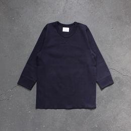 ミラノリブコットン7分袖カットソー/NV