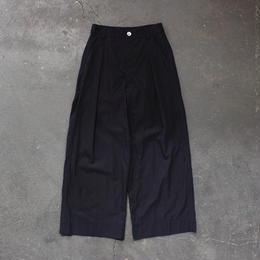 cotton linen weather cloth wide pants/NV