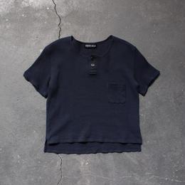 ワッフルヘンリーTシャツ/NV