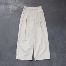 cotton linen weather cloth wide pants/BE