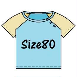 【半/長袖】ベビー用ラグランスリーブTシャツ♡サイズ 80【型紙ダウンロード販売】