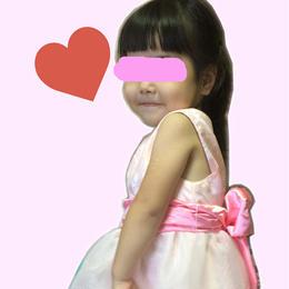 女の子用ウエスト切り替えワンピース♡サイズ110【型紙ダウンロード販売】