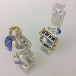 【マイセン】フィギュリンNo.150「天使の楽隊」オルガニスト/オルガン 900300/83336-900300/83335