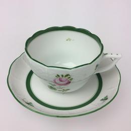 【ヘレンド】ウィーンのバラ 兼用カップ&ソーサー730