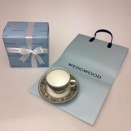 ★10月限定の特別価格★【ウェッジウッド】フロレンティーン・セージグリーン ティーカップ&ソーサー  リー