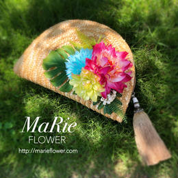 Flower Clutch Bag 【Natural×Tropical】
