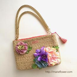3way Clutch bag    【Pink】 pink×purple