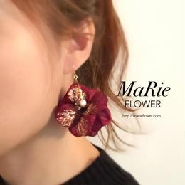 Flower accessory【キラキラ紫陽花 wine】