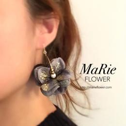 Flower accessory【キラキラ紫陽花 navy】