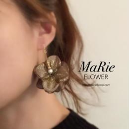 Flower accessory【キラキラ紫陽花 ベージュグレイ】