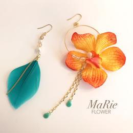 Flower accessory 【Blue羽×蘭】